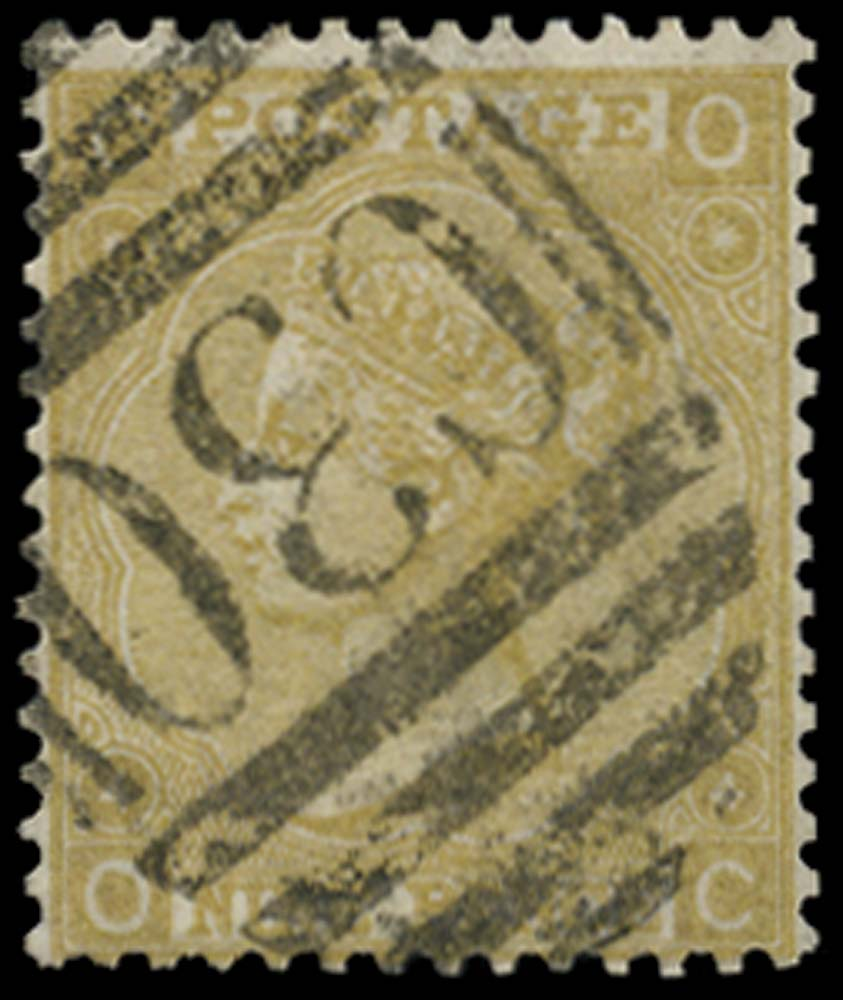 GB 1867  SG110 Pl.4 Used in Valparaiso, Chile