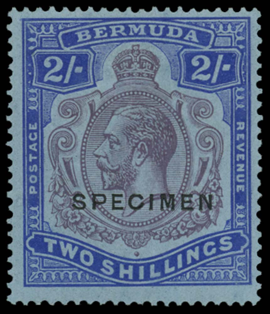 BERMUDA 1924  SG88bs Specimen 2s variety Broken crown and scroll
