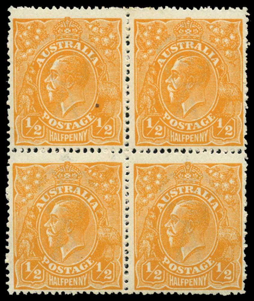 AUSTRALIA 1918  SG56 var Mint