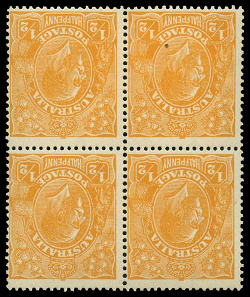 AUSTRALIA 1918  SG56w var Mint