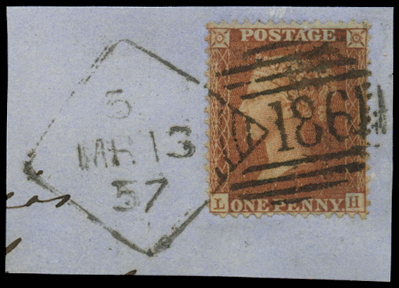 GB 1855  SG29 Pl.43 Used