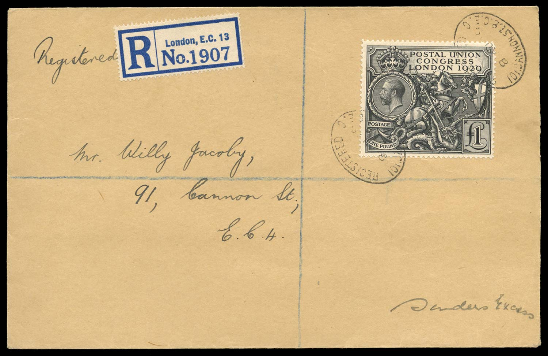 GB 1929  SG438 Cover
