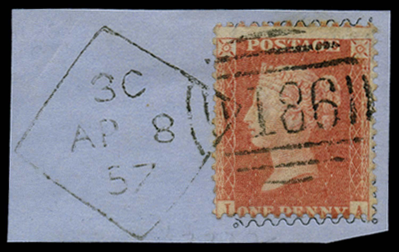 GB 1857  SG38 Pl.43 Used