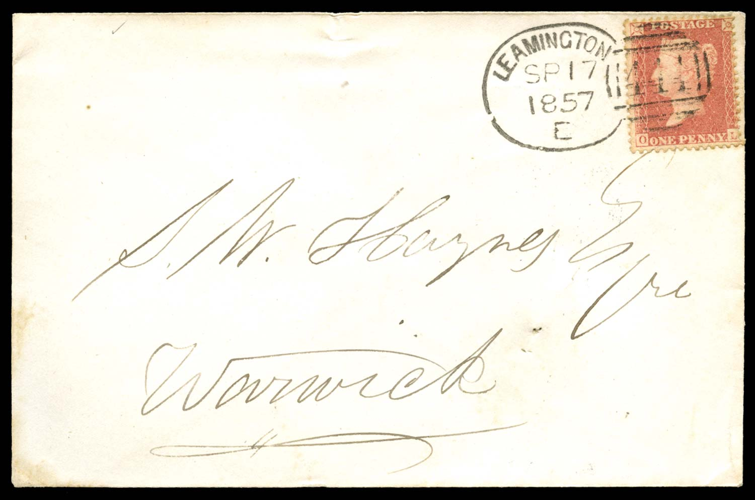 GB 1857  SG38 Pl.43 Cover