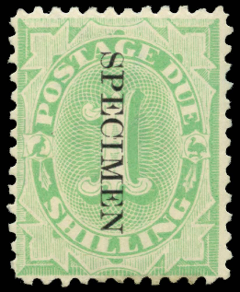 AUSTRALIA 1902  SGD19s Postage Due 1s perf 11½, 12 overprint SPECIMEN