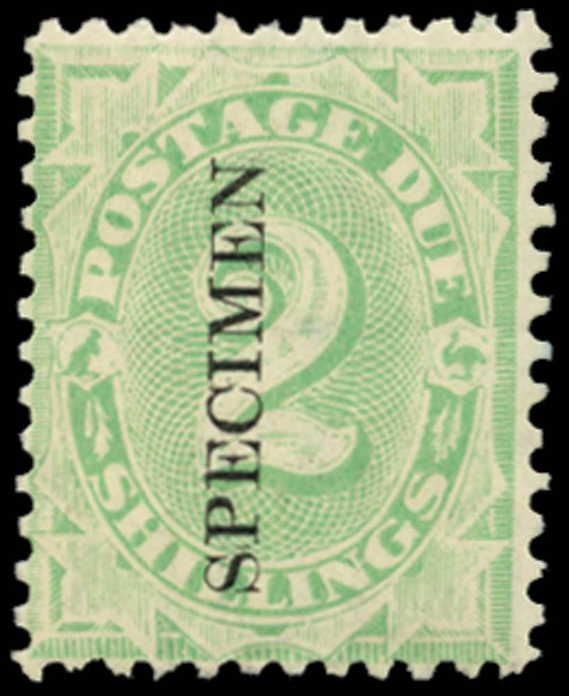 AUSTRALIA 1902  SGD20s Postage Due 2s perf 11½, 12 overprint SPECIMEN