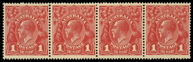 AUSTRALIA 1914  SG21c/d Mint