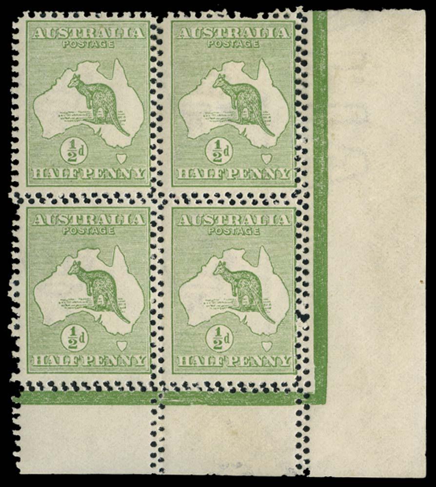 AUSTRALIA 1913  SG1 var Mint