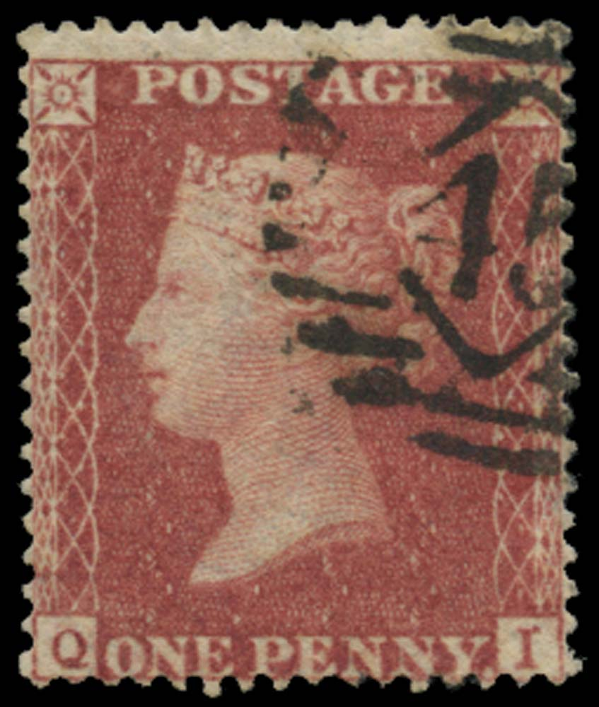 GB 1857  SG36 Pl.43 Used
