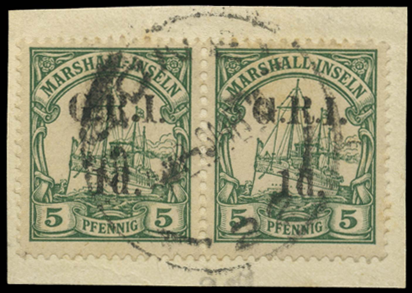 NEW GUINEA 1914  SG51 Cancel