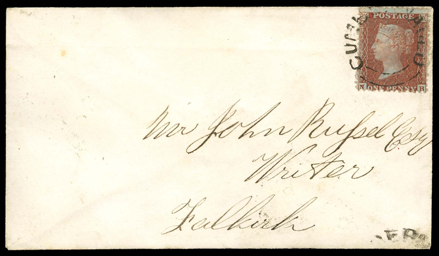 GB 1856  SG29var Pl.13 Cover
