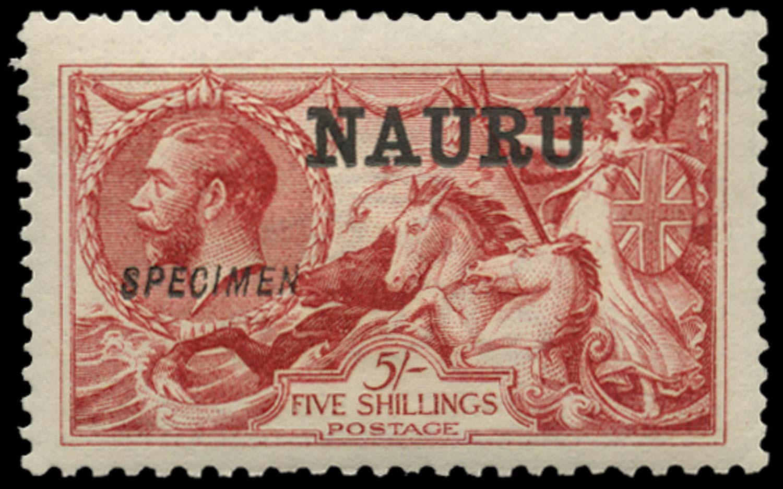 NAURU 1916  SG22s Specimen
