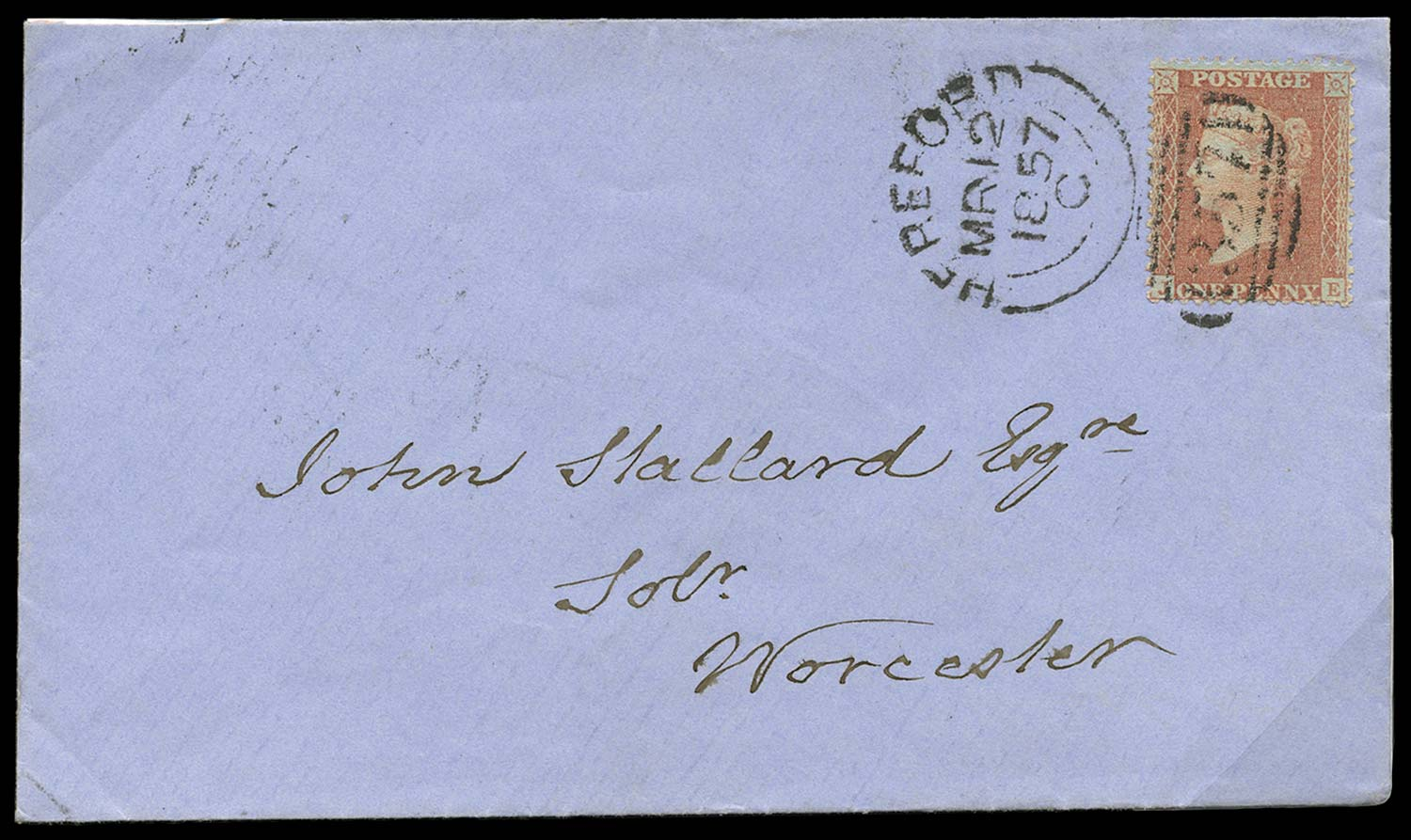 GB 1855  SG29 Pl.44 Cover