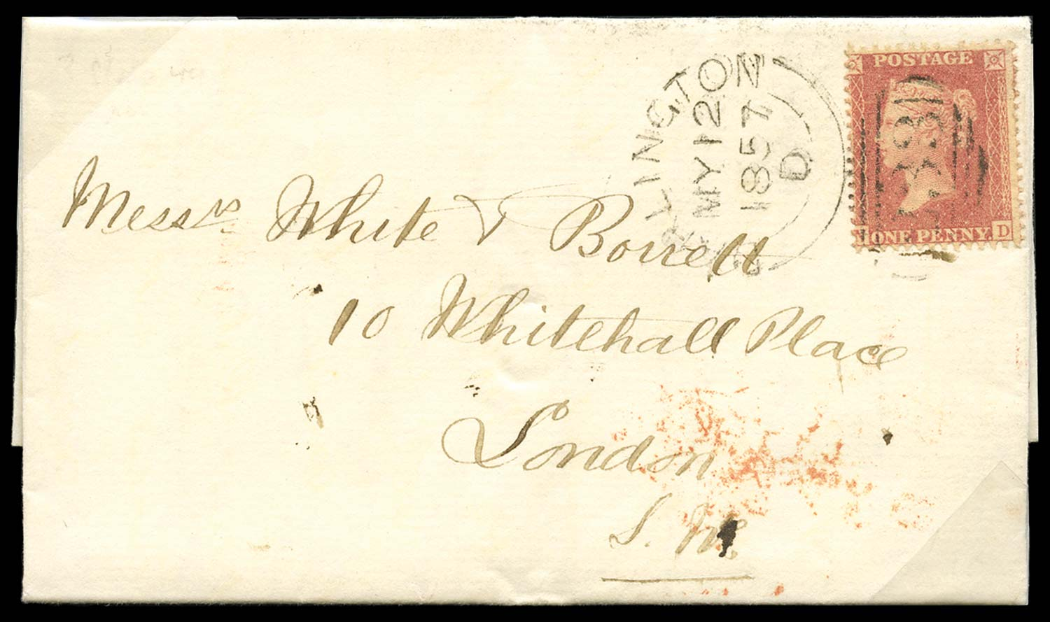 GB 1857  SG38var Pl.44 Cover