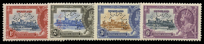 SWAZILAND 1935  SG21s/4s Specimen