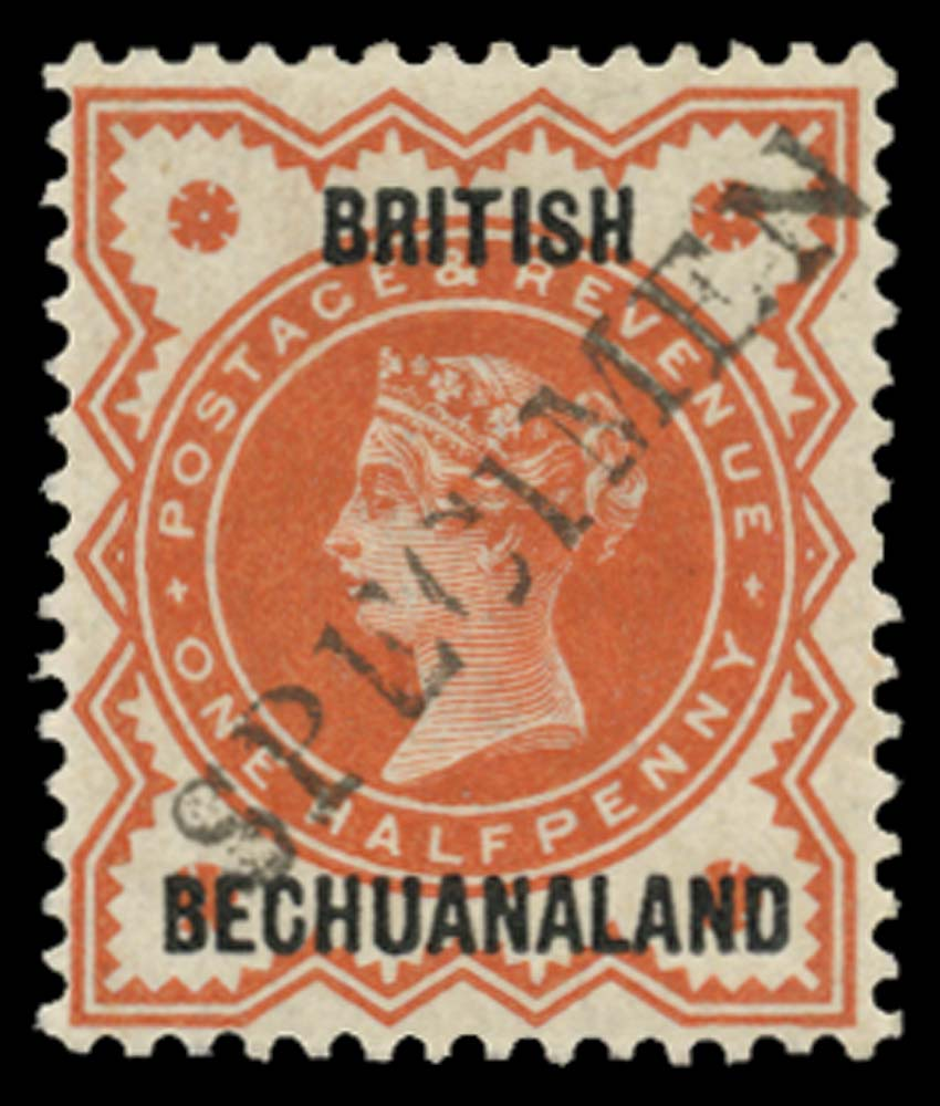 BECHUANALAND 1888  SG9s Specimen ½d vermilion unmounted