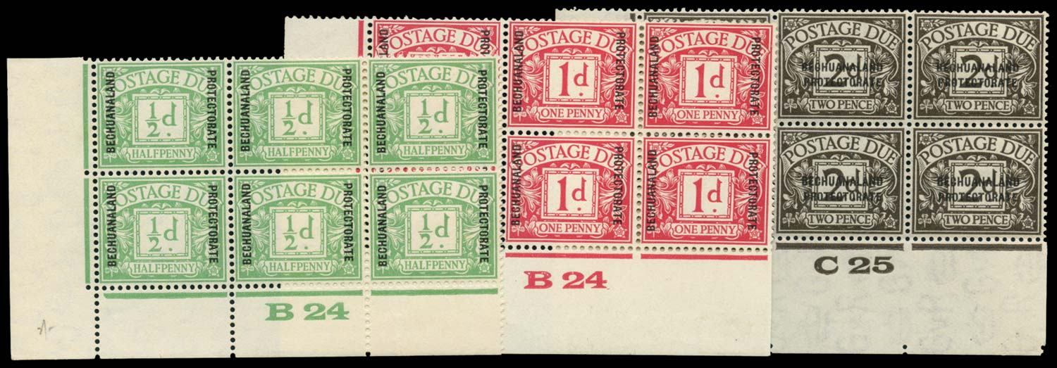 BECHUANALAND 1926  SGD1/3 Postage Due