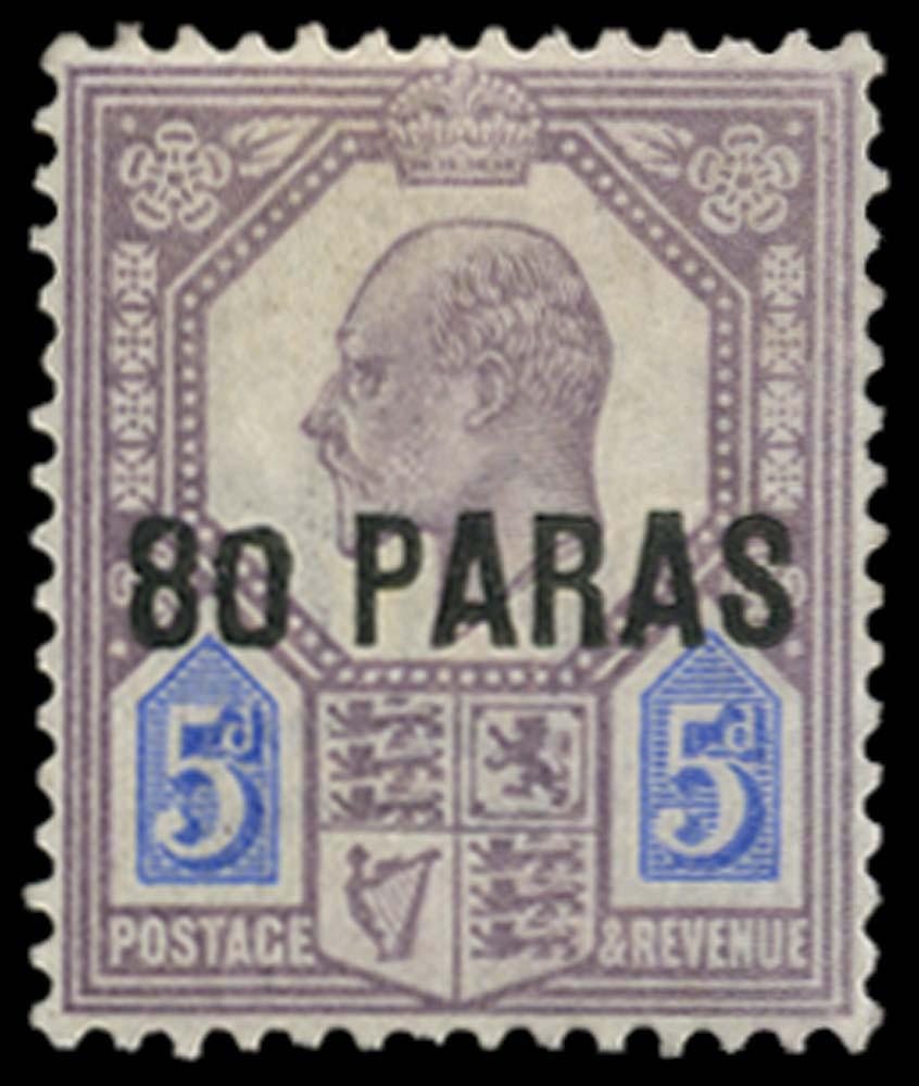 BRITISH LEVANT 1902  SG9a Mint