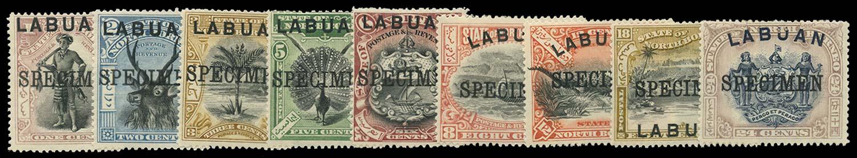 LABUAN 1897(-1901)  SG89s/97s Specimen