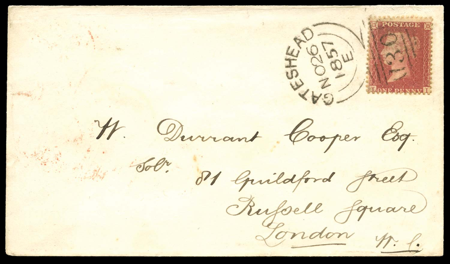 GB 1857  SG40 Pl.44 Cover