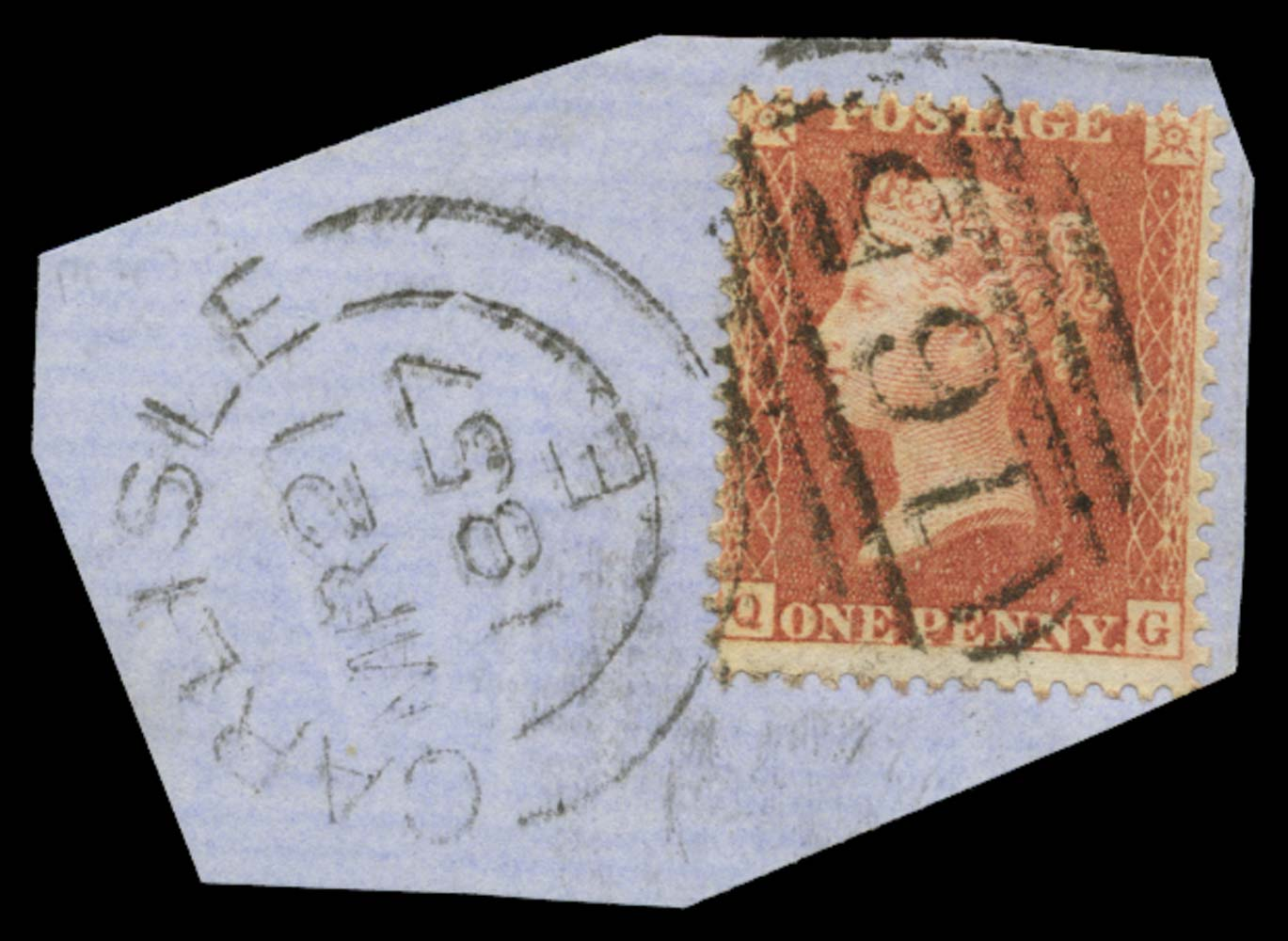 GB 1857  SG38var Pl.38 Used