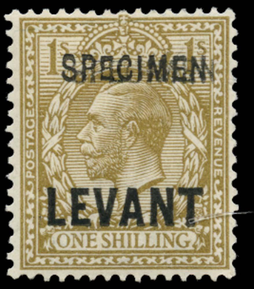 BRITISH LEVANT 1921  SGL23s var Specimen