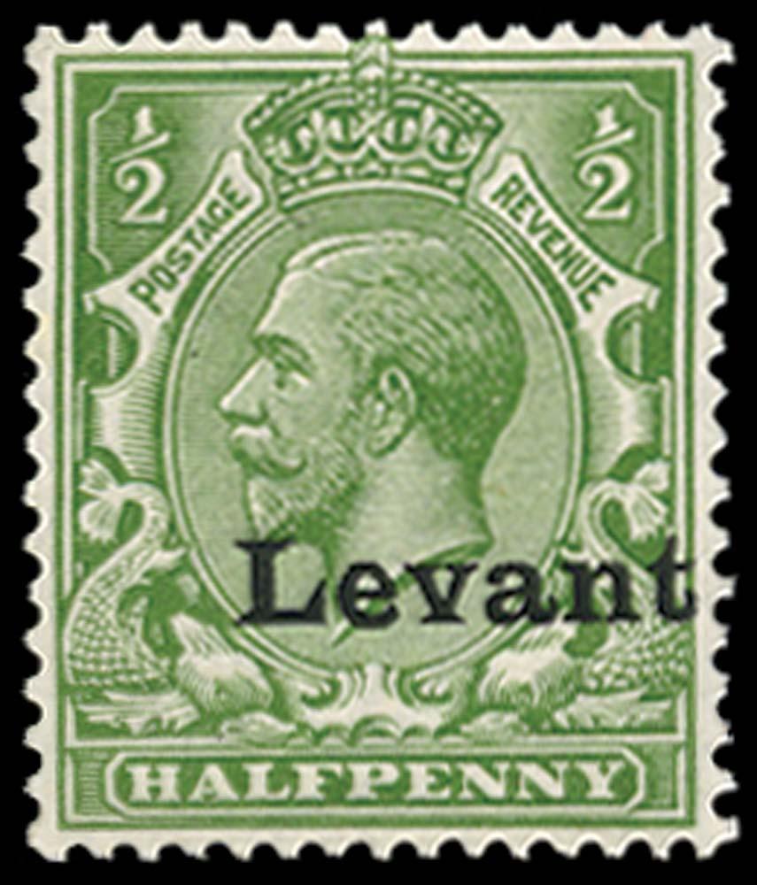 BRITISH LEVANT 1916  SGS1 Mint