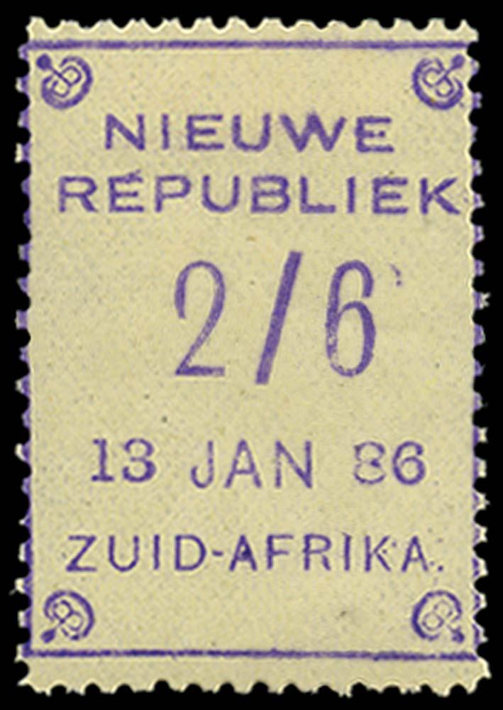 NEW REPUBLIC 1886-87  SG13 Mint