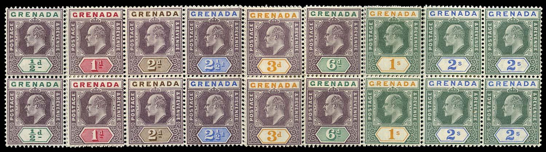 GRENADA 1902  SG57/64 Mint