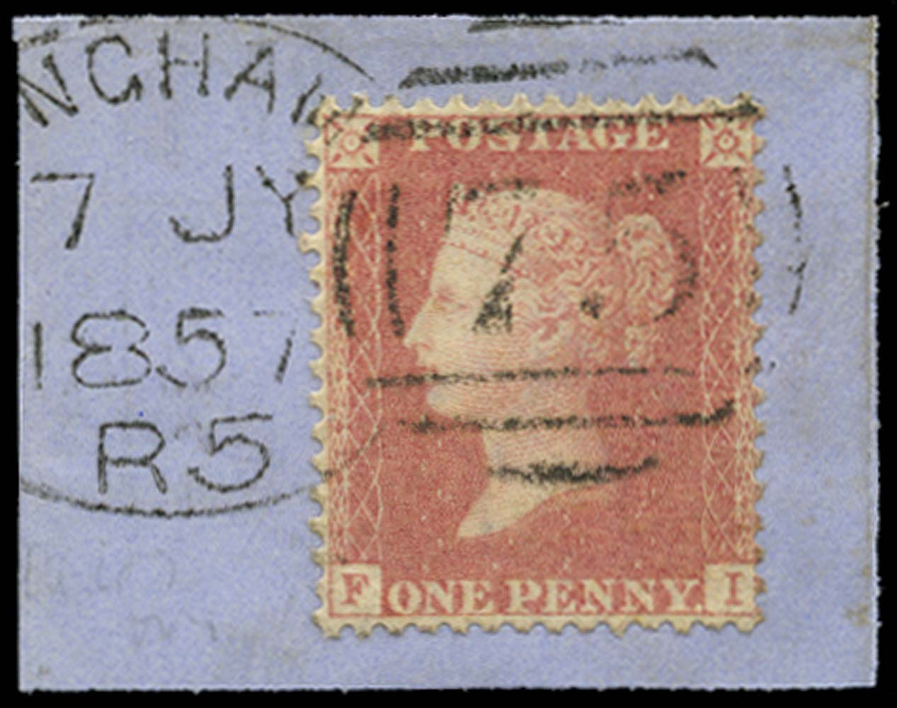 GB 1857  SG38var Pl.47 Used