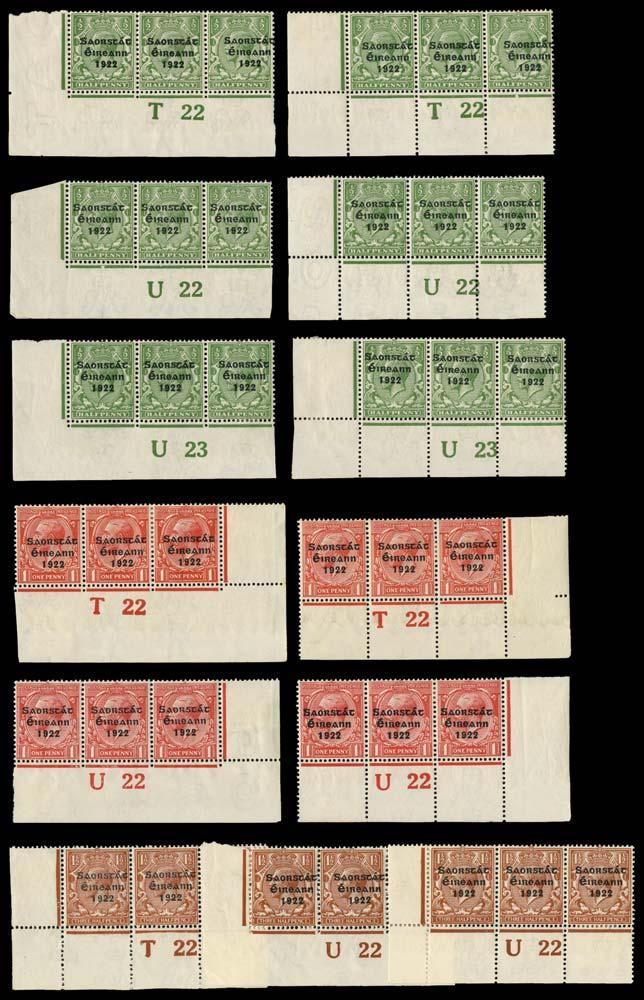 IRELAND 1922  SG52/63 Mint