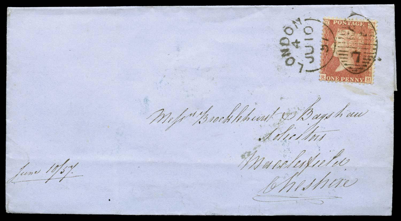GB 1857  SG39var Pl.47 Cover