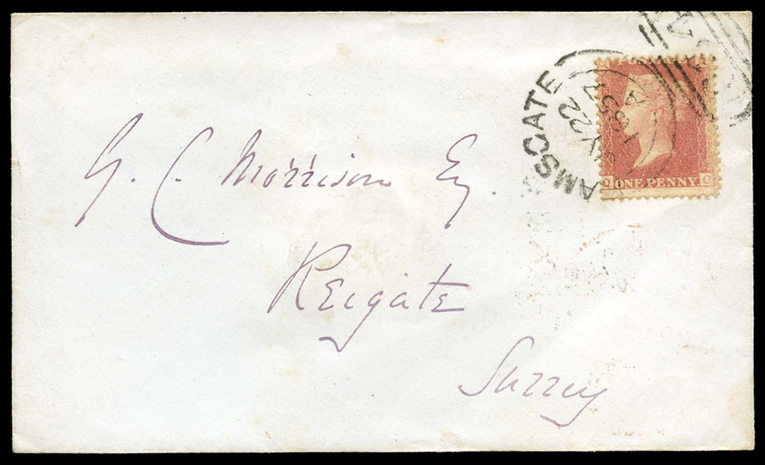 GB 1857  SG39var Pl.47 Cover