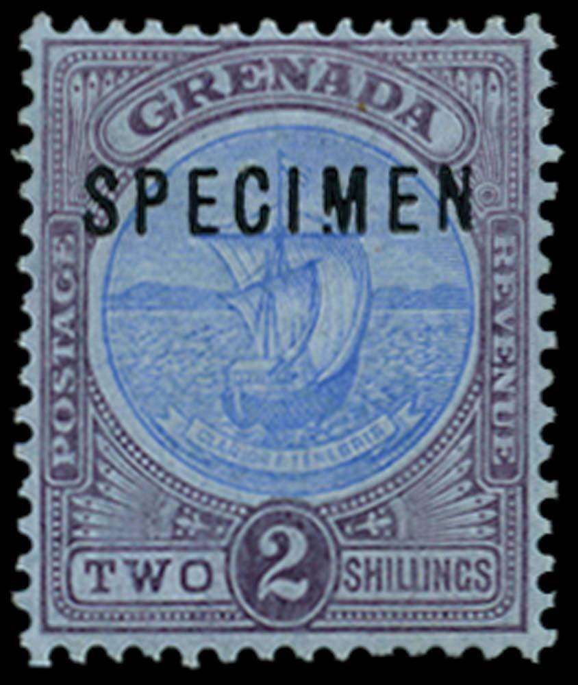 GRENADA 1908-11  SG87s var Specimen