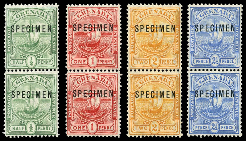 GRENADA 1906  SG77s/80s Specimen
