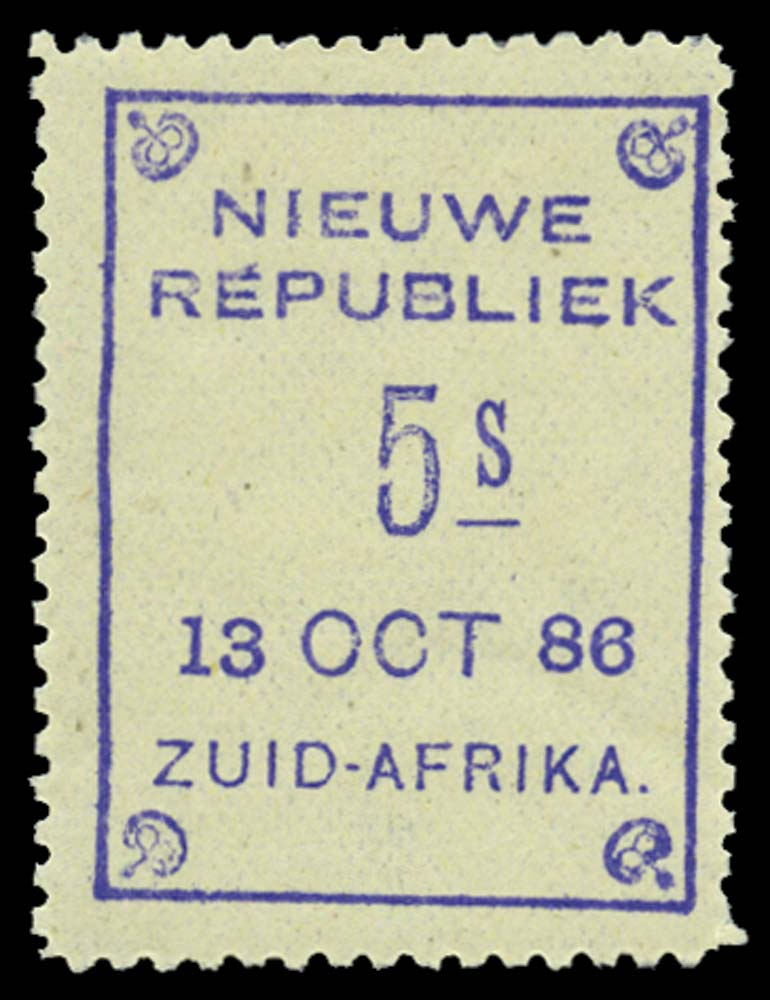 NEW REPUBLIC 1886-87  SG16 Mint