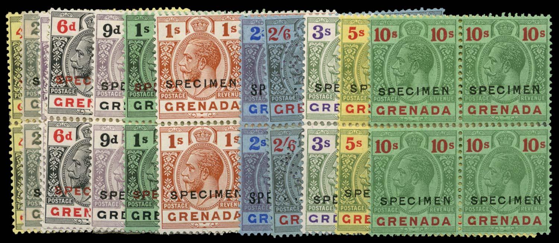 GRENADA 1921-32  SG117s/34s Specimen