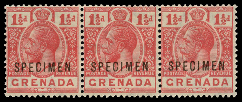 GRENADA 1921-32  SG115s var Specimen