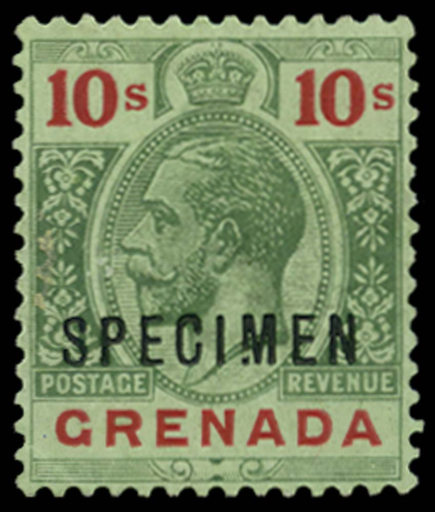 GRENADA 1913-22  SG101as var Specimen