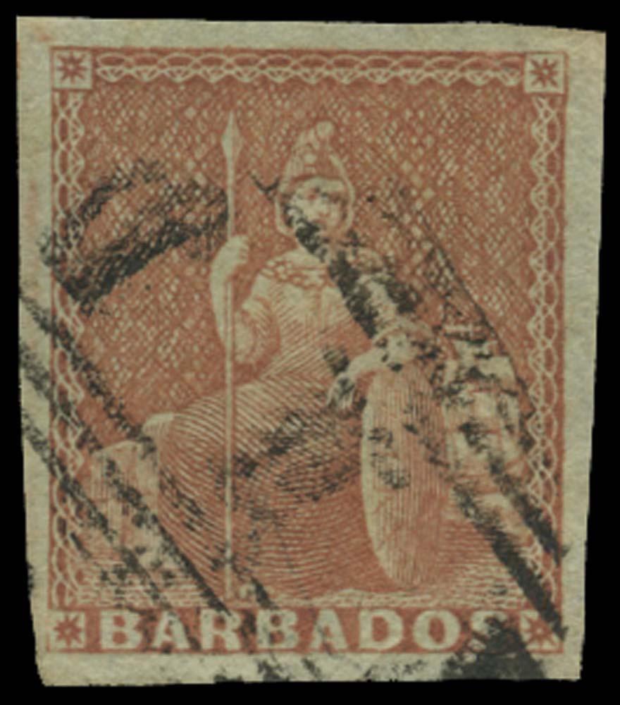 BARBADOS 1852  SG5 Used