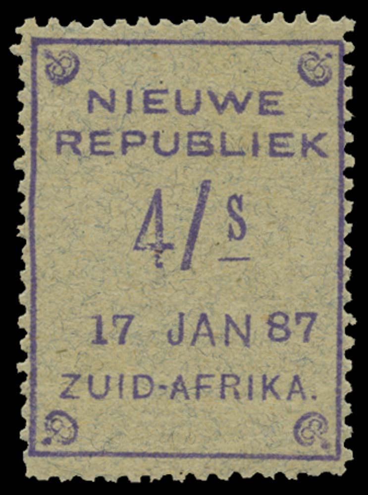 NEW REPUBLIC 1886-87  SG38 Mint