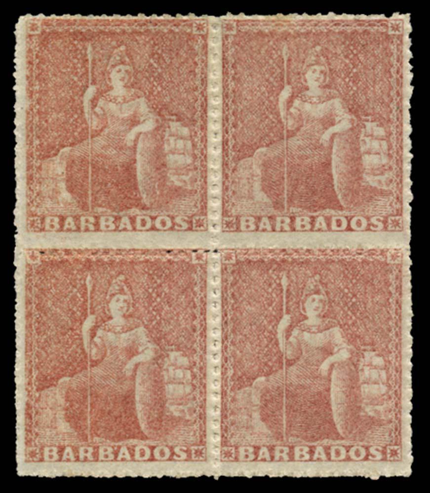 BARBADOS 1861  SG27 Mint