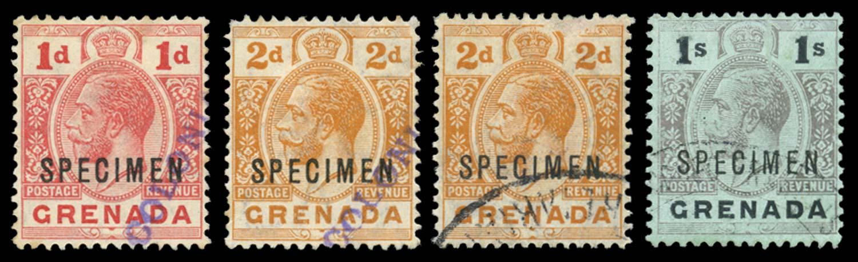 GRENADA 1913-22  SG91s, 93s, 98sa Specimen