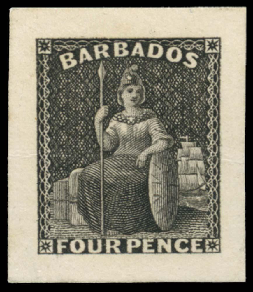 BARBADOS 1875  SG68 Proof