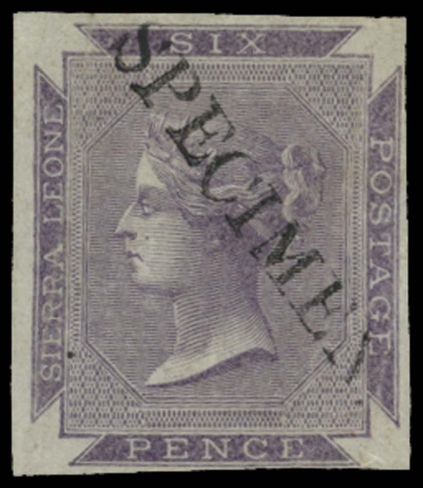 SIERRA LEONE 1859  SG1 Specimen
