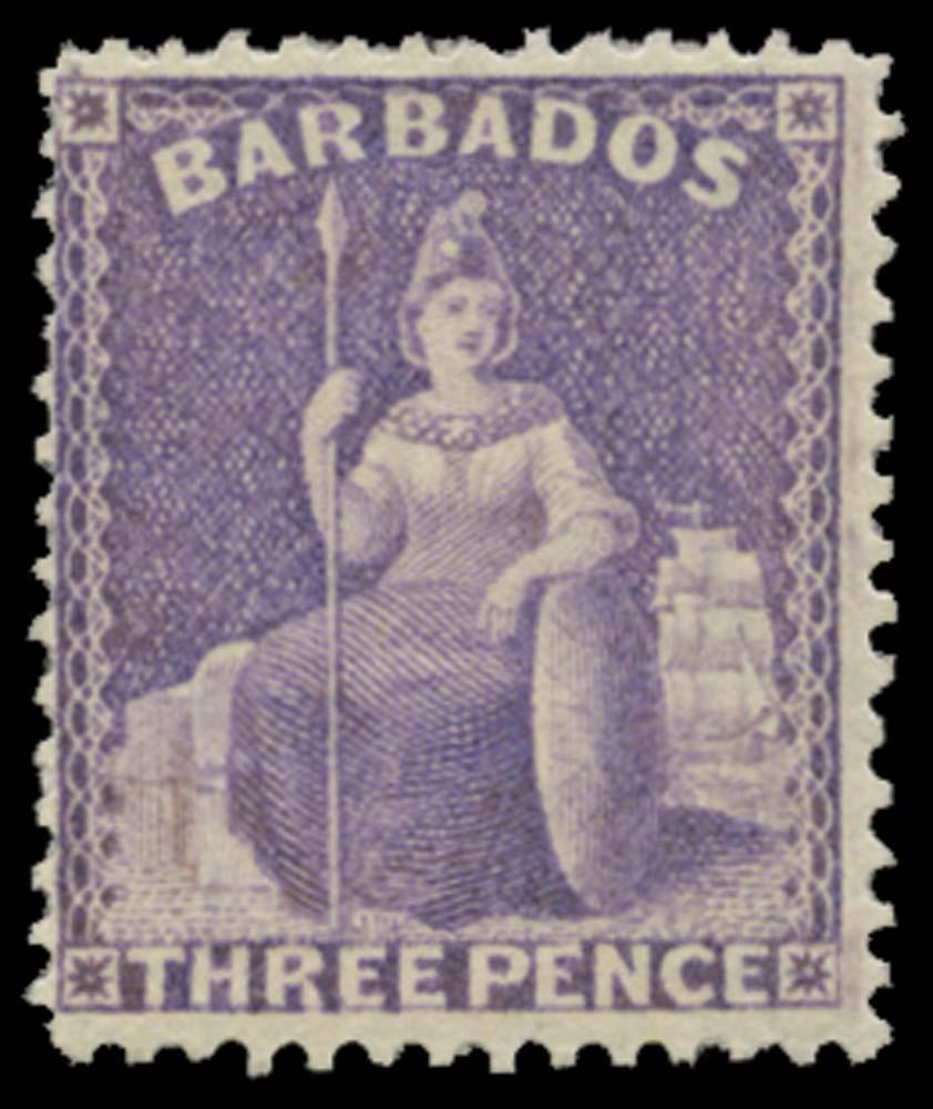 BARBADOS 1875  SG75 Mint