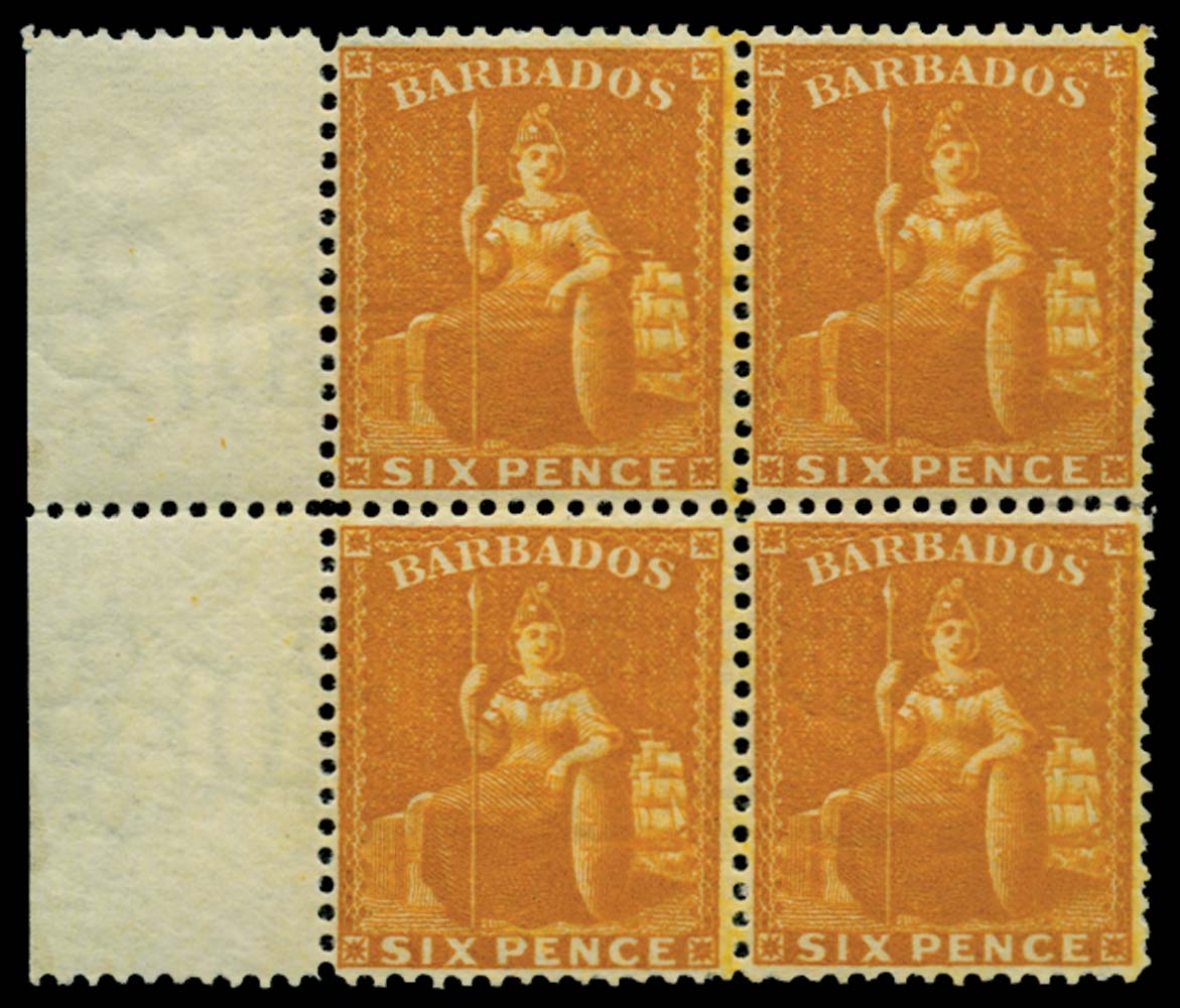 BARBADOS 1875  SG79w Mint