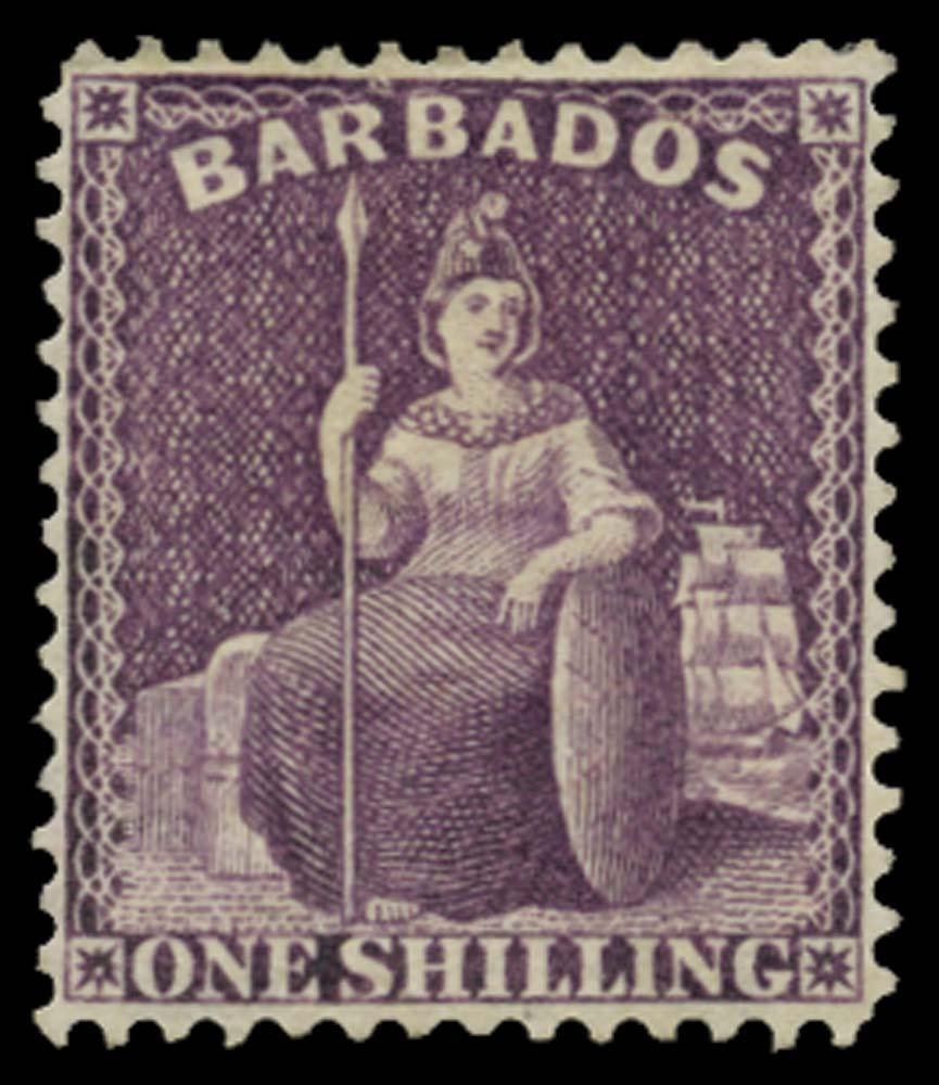 BARBADOS 1875  SG81w Mint