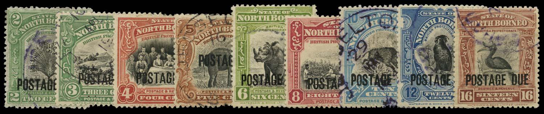 NORTH BORNEO 1918-20  SGD52/65a Postage Due