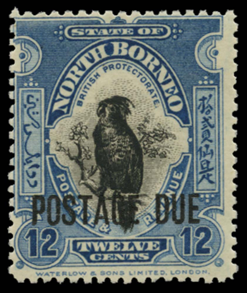 NORTH BORNEO 1918-30  SGD64 Postage Due